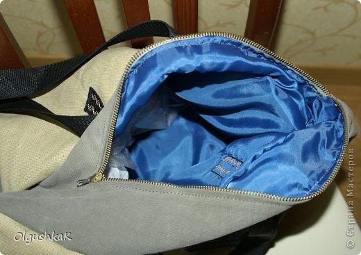 Моя первая сумочка из кожзама и ткани, внутри синтепон, подкладка, один карман. фото 14