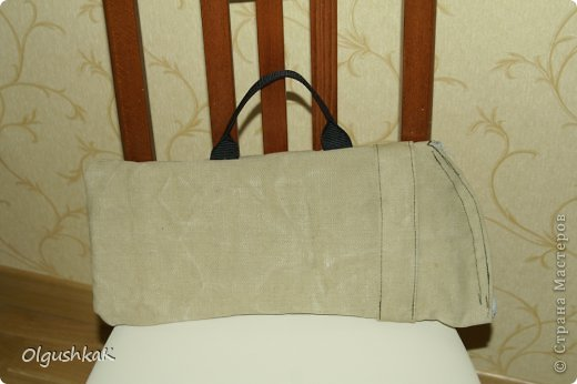 Моя первая сумочка из кожзама и ткани, внутри синтепон, подкладка, один карман. фото 18