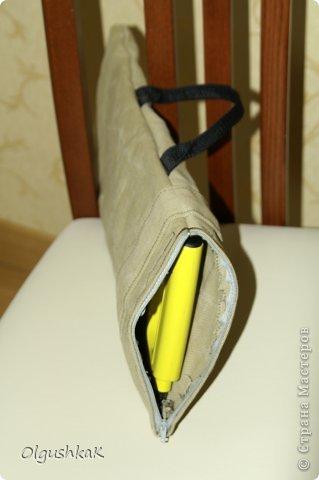Моя первая сумочка из кожзама и ткани, внутри синтепон, подкладка, один карман. фото 20