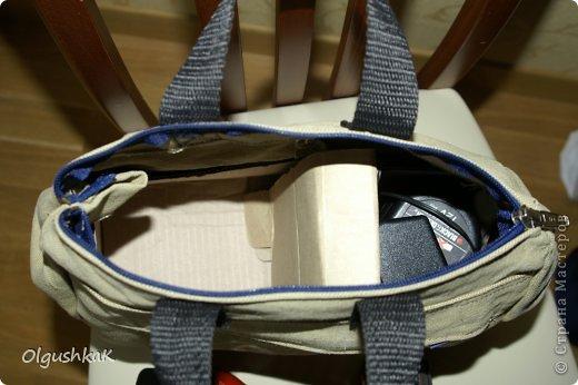 Моя первая сумочка из кожзама и ткани, внутри синтепон, подкладка, один карман. фото 22