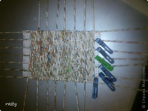 Материалы и инструменты Плетение Станки для плетения прямоугольного дна Бумага газетная Трубочки бумажные фото 6