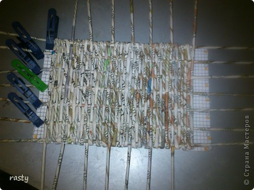 Материалы и инструменты Плетение Станки для плетения прямоугольного дна Бумага газетная Трубочки бумажные фото 8