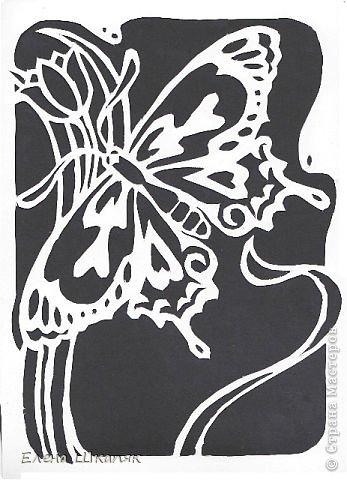Картина панно рисунок Открытка Вырезание Новые работы Бумага фото 4
