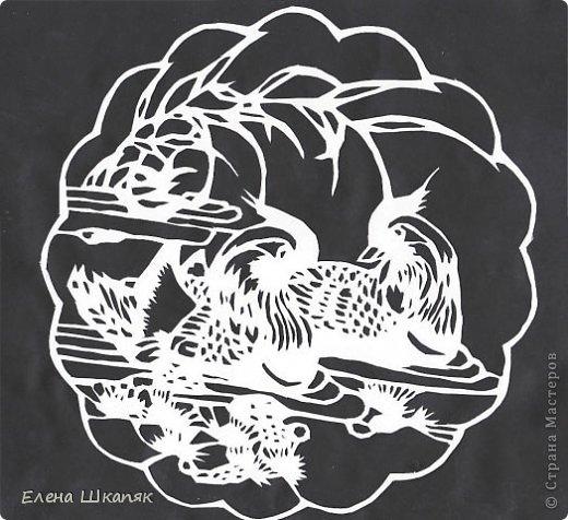 Картина панно рисунок Открытка Вырезание Новые работы Бумага фото 9