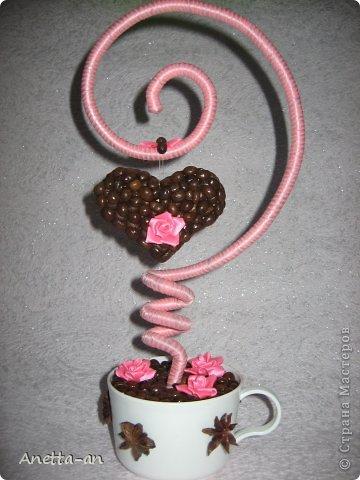 Топиарий сердце из кофе своими руками - Luboil.ru