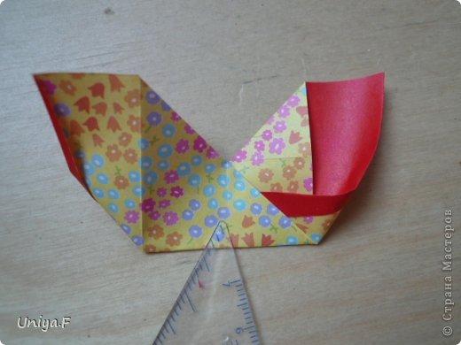 Мастер-класс Кусудама Оригами Le Rose Screziate Туториал Бумага фото 8