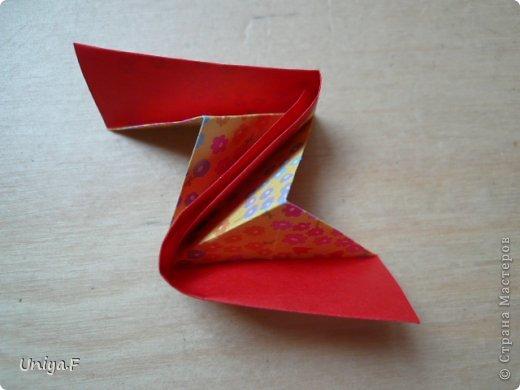 Мастер-класс Кусудама Оригами Le Rose Screziate Туториал Бумага фото 10