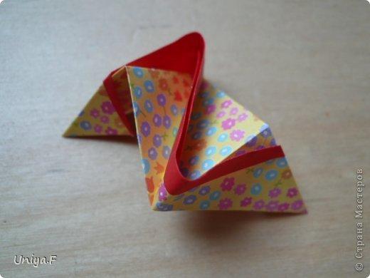 Мастер-класс Кусудама Оригами Le Rose Screziate Туториал Бумага фото 11
