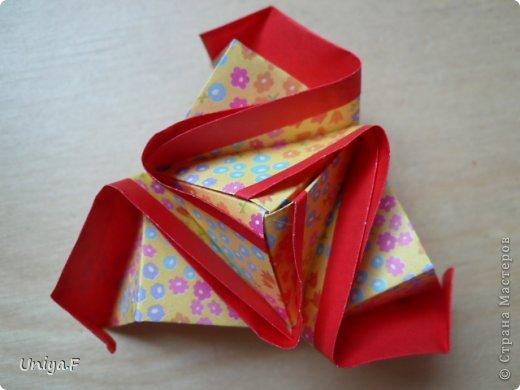 Мастер-класс Кусудама Оригами Le Rose Screziate Туториал Бумага фото 12