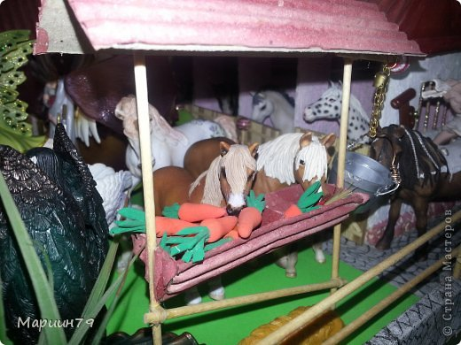 Конюшня для лошадей Schleich фото 11