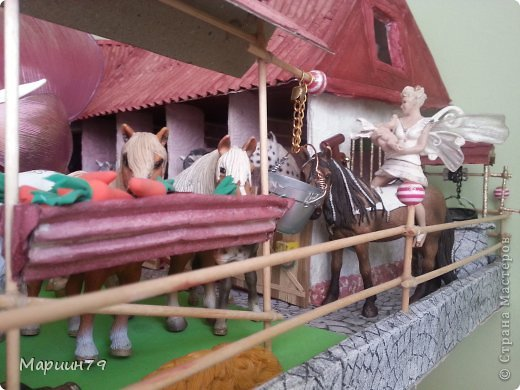 Конюшня для лошадей Schleich фото 16