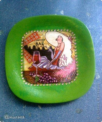 """""""Летнее настроение"""" тарелочка(материал:Тарелка,салфетка,яич.скорлупа,клей ПВА,лак акриловый,краска акриловая белая) фото 35"""