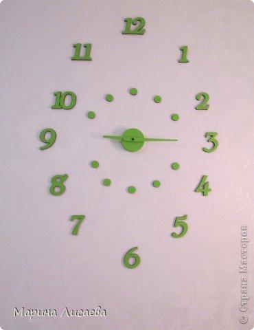 Эти часы я сделала сама, висят они в спальне. фото 3