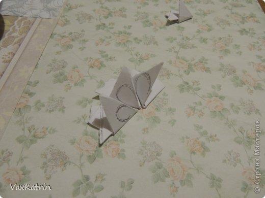 Мастер-класс Бумагопластика МК розы и бутона Бумага фото 11