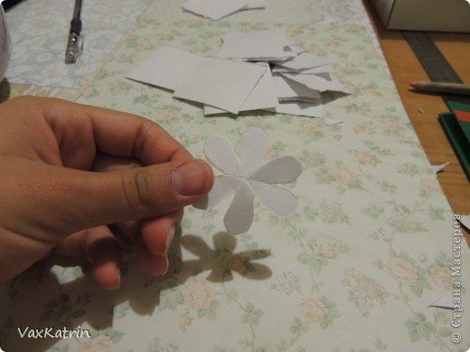 Мастер-класс Бумагопластика МК розы и бутона Бумага фото 12