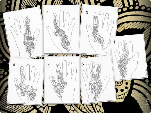 рисование знаком на руке