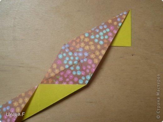 """Снова здравствуйте!  Следующая модель из ленточно-цветочной серии Индира. Она получилась самой аккуратной и кругленькой.   Name: Indira collection """"Ribbon Flowers"""" Designer: Uniya Filonova Units: 30 Paper: 2,9 * 15 sm  Final height: ~ 8,5 sm Joint: no glue фото 7"""