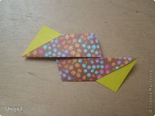 """Снова здравствуйте!  Следующая модель из ленточно-цветочной серии Индира. Она получилась самой аккуратной и кругленькой.   Name: Indira collection """"Ribbon Flowers"""" Designer: Uniya Filonova Units: 30 Paper: 2,9 * 15 sm  Final height: ~ 8,5 sm Joint: no glue фото 9"""