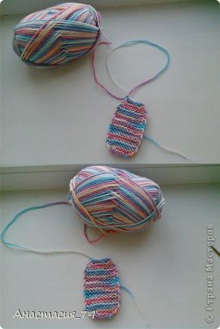 Гардероб Мастер-класс Вязание спицами Очень простые пинеточки для малыша подробный МК Нитки Пуговицы фото 19