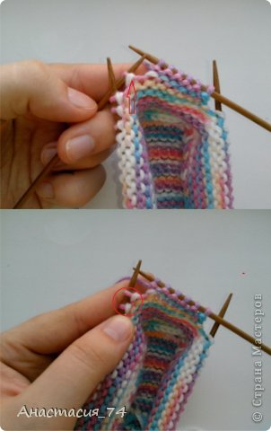 Гардероб Мастер-класс Вязание спицами Очень простые пинеточки для малыша подробный МК Нитки Пуговицы фото 28