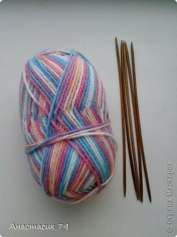 Гардероб Мастер-класс Вязание спицами Очень простые пинеточки для малыша подробный МК Нитки Пуговицы фото 2