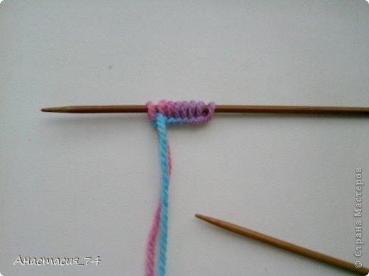 Гардероб Мастер-класс Вязание спицами Очень простые пинеточки для малыша подробный МК Нитки Пуговицы фото 4