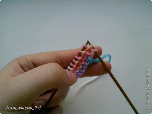 Гардероб Мастер-класс Вязание спицами Очень простые пинеточки для малыша подробный МК Нитки Пуговицы фото 7