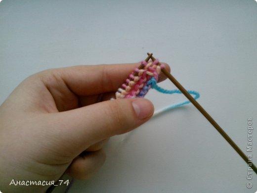 Гардероб Мастер-класс Вязание спицами Очень простые пинеточки для малыша подробный МК Нитки Пуговицы фото 8