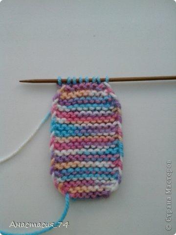 Гардероб Мастер-класс Вязание спицами Очень простые пинеточки для малыша подробный МК Нитки Пуговицы фото 13