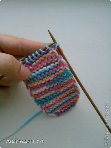 Гардероб Мастер-класс Вязание спицами Очень простые пинеточки для малыша подробный МК Нитки Пуговицы фото 14