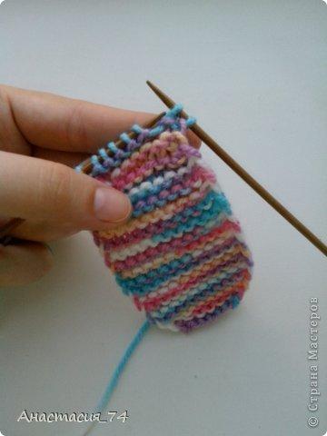 Гардероб Мастер-класс Вязание спицами Очень простые пинеточки для малыша подробный МК Нитки Пуговицы фото 15