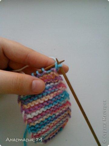 Гардероб Мастер-класс Вязание спицами Очень простые пинеточки для малыша подробный МК Нитки Пуговицы фото 17