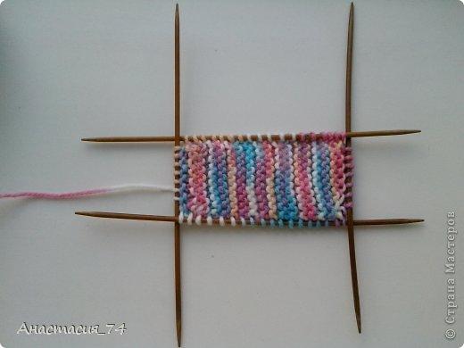Гардероб Мастер-класс Вязание спицами Очень простые пинеточки для малыша подробный МК Нитки Пуговицы фото 21