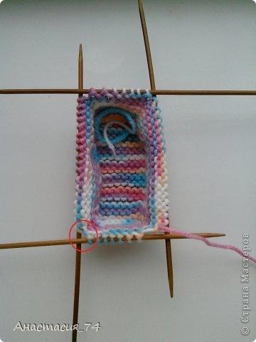 Гардероб Мастер-класс Вязание спицами Очень простые пинеточки для малыша подробный МК Нитки Пуговицы фото 23