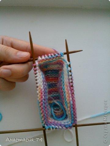 Гардероб Мастер-класс Вязание спицами Очень простые пинеточки для малыша подробный МК Нитки Пуговицы фото 27
