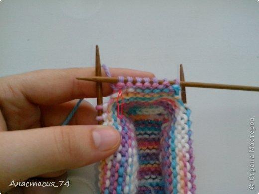 Гардероб Мастер-класс Вязание спицами Очень простые пинеточки для малыша подробный МК Нитки Пуговицы фото 29