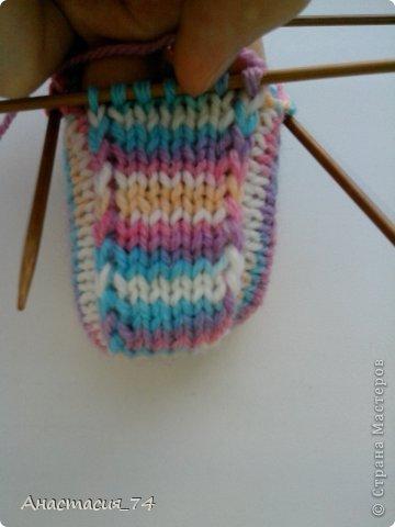 Гардероб Мастер-класс Вязание спицами Очень простые пинеточки для малыша подробный МК Нитки Пуговицы фото 30