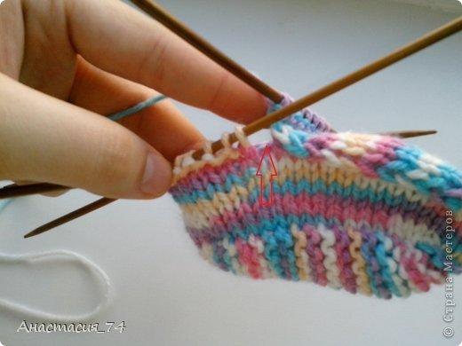 Гардероб Мастер-класс Вязание спицами Очень простые пинеточки для малыша подробный МК Нитки Пуговицы фото 32