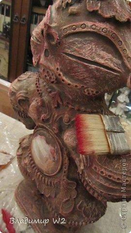 Мастер-класс Папье-маше Мастер-класс по изготовлению скульптуры Догу из папье-маше Бумага фото 19