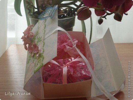 Насмотрелась Вашей красоты и вот мои открыточки и коробочки.  фото 3