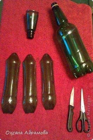 """Мое увлечение изделиями из пластиковых бутылок началось с пальм. Я случайно увидела МК и решила повторить. Вот так выглядит мой """"Пальмовый рай"""". фото 14"""