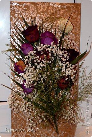 Панно с сухими цветами фото 1