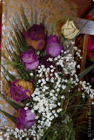 Панно с сухими цветами фото 2