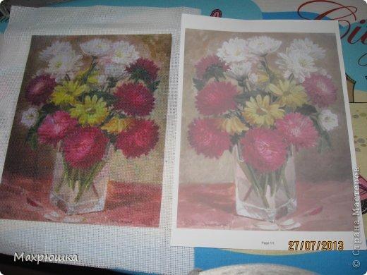 Картина панно рисунок Мастер-класс Перевод распечатанной картинки на ткань с помощью термобумаги - мини МК Бумага Канва фото 4