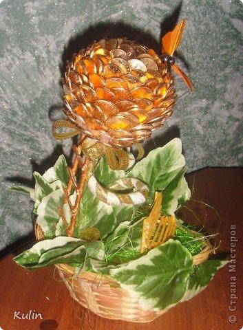 прилетела бабочка(хотя по желанию может быть и птичка,т.к. это магнит) села на цветок,украсила его своею красотой... фото 3