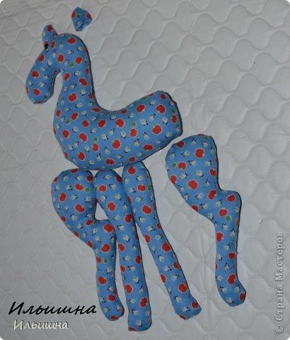 Мастер-класс Поделка изделие Новый год Шитьё Конь в яблоках + подробный Мастер-Класс Ткань фото 11