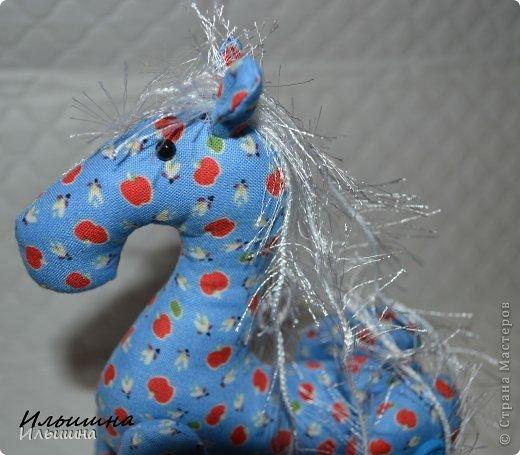 """Здравствуйте!!! Я обещала, и это свершилось! Подробный Мастер-класс как сшить лошадку ГОТОВ! И повод впереди такой замечательный - Новый год. Год 2014 прискачет на СИНЕЙ лошади. И мы с Вами сделаем такую лошадку!  П.С. С коняшкой Участвуем в конкурсе  """"Лошади бывают разные"""" http://stranamasterov.ru/node/612099 Ну что, готовим сани с лета?))) У меня получился вот такой скакун, который (скажу я вам по секрету) поедет к замечательной девушке и которая об этом даже и не подозревает!  Ну поехали... фото 22"""