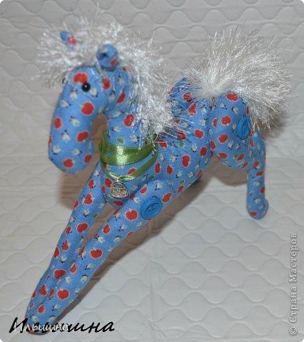 Мастер-класс Поделка изделие Новый год Шитьё Конь в яблоках + подробный Мастер-Класс Ткань фото 40