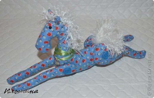 Мастер-класс Поделка изделие Новый год Шитьё Конь в яблоках + подробный Мастер-Класс Ткань фото 41