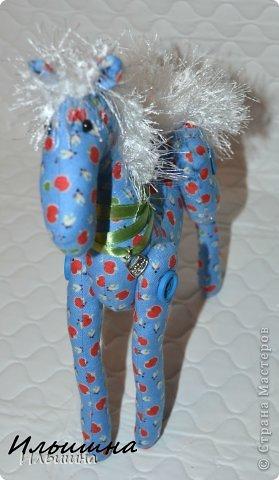 Мастер-класс Поделка изделие Новый год Шитьё Конь в яблоках + подробный Мастер-Класс Ткань фото 42